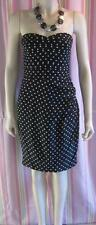 FOREVER NEW STRAPLESS SILK JASMINE POLKA DOT DRESS  BNWT SIZE 6-8- RRP $129.99