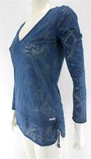 RIPCURL KHEPRI L/S TEE SHIRT TOP DARK DENIM BNWT 6-8 RRP $59.99