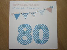 Personalised Handmade Male Birthday Card - 30, 40, 50, 60, 70 80, any age/name