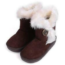2015 Winter Children Boots Thick Warm Shoes Coral fleece Buckle Boys Girls Boots