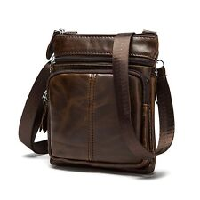 Mens Leather Shoulder Messenger Bag Crossbody Handbag Briefcase Leisure Bags