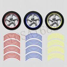 "1x 3M Reflective Tape Car Motorcycle Rim Stripe 16 17 18 "" Wheel Decal Stickers"