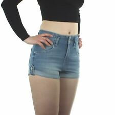 Ex Topshop Moto Denim Cotton Shorts Hot Pants Summer Blue Black Purple 8 10 16