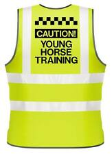 ADULTS HI-VIZ PRINTED CAUTION YOUNG HORSE TRAINING SAFETY WEAR FOR HORSE RIDING