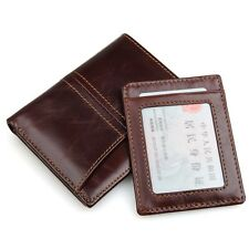 RFID protection Men Genuine Leather Removable Card Holder Wallet Purse Bifold
