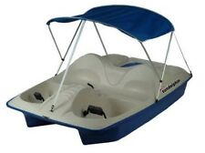 5-Seat Pedal Boat Sun Dolphin 5 Person Paddle w/ Canopy Sun Pontoon Cover Lake