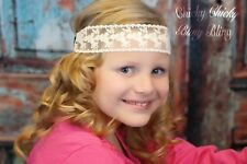 Sweet and Sassy Cream Floral Lace Headband