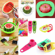 Convenient Watermelon Slicer Fruit Cutter Corer Scoop Stainless Steel Tool OA