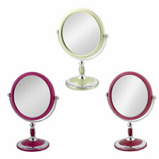 Dresser Metal Rim Classical Style Dual Sided Magnifying Standing Makeup Mirror