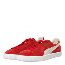 """New Mens Puma  Clyde """"OG Pack"""" Trainers - Cherry Red Suede"""
