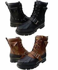 Polo Ralph Lauren Mens Hamlin II Lace Up Duck Toe Casual Fashion Ankle Boots