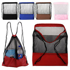 New Mesh Drawstring Backpack Tote Sport Pack Clothes Shoe Travel Bag Backpack