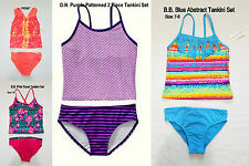 NWT Girls' Old Navy OP One Two Piece Tankini Bikini Set Swimsuit 10-12 or 14