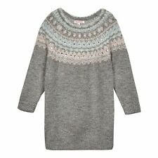 Bluezoo Kids Girls' Grey Gem Embellished Jumper From Debenhams