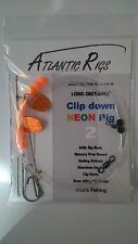 FREE POSTAGE 5X ATTRACTOR CLIP DOWN LONG DISTANCE RIGS COD BASS PLAICE