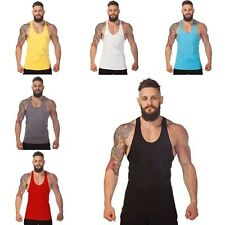 Mens Bodybuilding Vests Gym Sports Tank Tops Sleeveless Slim Fit T-shirts