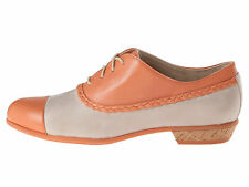 Wolverine 1883 Maise Women Suede Leather Oxford Shoes Lace-Up Peach/Stone Sz 8.5