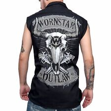 Wornstar Men's Country Western Rock Clothing Apparel Outlaw Sleeveless Shirt