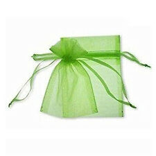 F8 100 Pcs Organza Wedding Favour Bags Jewellery Pouches Green