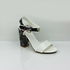 WOMENS LADIES SUMMER STRAPPY HIGH HEEL ANKLE STRAP SANDALS SHOES SIZE 3-8