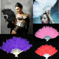 Soft Fluffy Lady Burlesque Wedding Hand Fancy Dress Costume Dance Feather Fan;