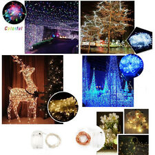 2/3/10/20/100/200M Electric/Battery String Fairy Lights 10-200LED Christmas Xmas