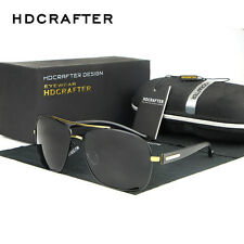 New Men UV400 Polarized Aviator Driving Sunglasses Brand Designer Eyewear Shades