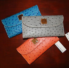 Dooney & Bourke Ostrich Leather Embossed Wallet