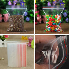 100-500Pcs Resealable Plastic Bags Zip Lock Reseal Ziplock Storage Clear Bag New