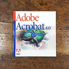 Adobe Acrobat 4.0 for Windows in Original Sleeve Includes Serial