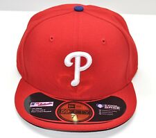 NEW ERA 59FIFTY CAP PHILADELPHIA PHILLIES RED ON FIELD MLB AUTHENTIC FITTED HAT