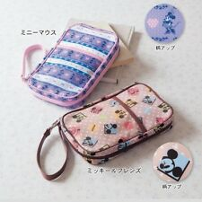 DISNEY Mickey Minnie Passbook Bankbook Card Case Pouch Purse from Japan E1811
