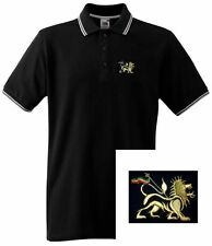 Lion of Judah Polo Shirt with Embroidered Motif - Rasta Shirts