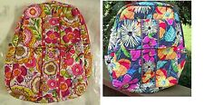 VERA BRADLEY Small Backpack Purse Travel Bag Bookbag Tags Clementine Jazzy