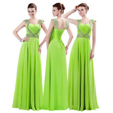 New Chiffon Long Formal Prom Evening Bridesmaid Dress Straps Party Ball Gown