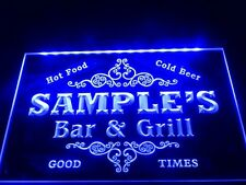 DZ058- Name Personalized Custom Family Bar & Grill Beer LED Neon Light Sign Bar