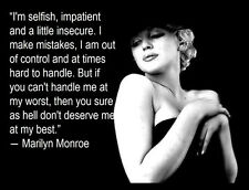 Marilyn Monroe FRIDGE MAGNET 6x8 Sexy Quote Magnetic Poster