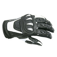 Dririder Stealth Leather Summer Sport Touring Glove Mens White / Black S - 4XL