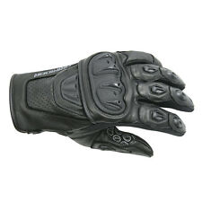 Dririder Stealth Leather Summer Sport Touring Glove Mens Black S - 6XL