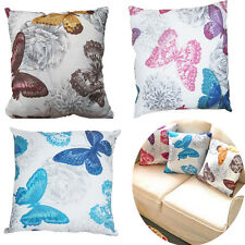 Home Decor Butterfly Pillow Case Sofa Backrest Cushion Cover Soft Pillowcase New