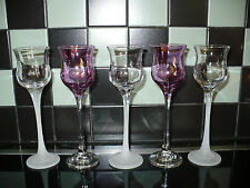 PARTYLITE Frosted Trio Votive Holders w/ Extra Purlpe Votive Holders