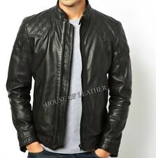 Men's Slim Fit Biker Motorcycle Leather Jacket