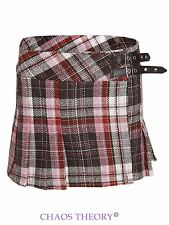 Ladies Womens Check Mini Skirt Tartan Billie Kilt Pleated Mini Skirts