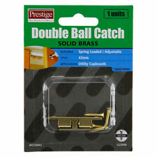 Prestige DOUBLE BALL CATCH Solid Brass Spring Loaded Adjustable 43mm,49mm & 60mm