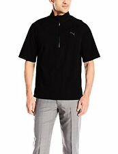 PUMA Golf NA 57049701 Puma Mens Short Sleeve Rain Popover Jacket L