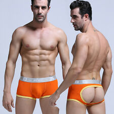 Men Sexy Gay Backless Breathable Underwear Boxer Briefs Shorts Trunks Underpants