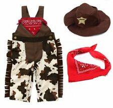 Baby Boy Girl Cowboy Sheriff Fancy Costume Party Outfit+Scarf+Hat Set 3-18M
