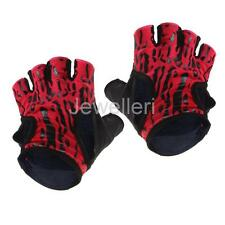 1pair Women Breathable Weight Lifting Half Finger Gloves Fitness Cycling Mitts