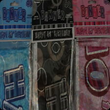 40th glitz birthday banner party decorations pink blue black silver 40 forty
