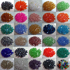 500pcs Faceted Bicone Crystal Glass Beads 4/6mm Spacer Beads For Jewelry Making